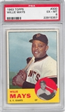 1963 Topps Baseball #300 Willie Mays PSA 6 (EX-MT) *5357