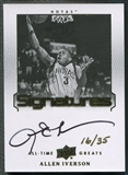 2013 Upper Deck All-Time Greats #ATGAI3 Allen Iverson Signatures Auto #16/35
