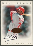 1996 Leaf Signature #46 Will Clark Auto
