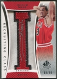 "2007/08 SP Authentic #RCJN Joakim Noah Recruiting Class City Name Rookie Letter ""I"" Patch Auto #08/50"