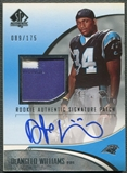 2006 SP Authentic #232 DeAngelo Williams Rookie Patch Auto #089/175