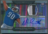 2010 Topps Platinum #NS Ndamukong Suh Rookie Patch Auto #380/500