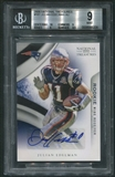 2009 Playoff National Treasures #161 Julian Edelman Rookie Auto #43/99 BGS 9 (MINT) *5339