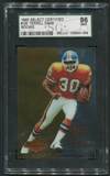 1995 Select Certified Football #126 Terrell Davis Rookie SGC 96 (MINT) *1009