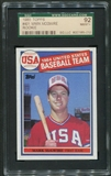 1985 Topps Baseball #401 Mark McGwire Rookie SGC 92 (NM-MT+) *5010