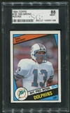 1984 Topps Football #123 Dan Marino Rookie SGC 88 (NM-MT) *1008