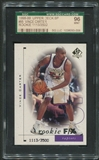 1998/99 SP Authentic Basketball #95 Vince Carter Rookie #1113/3500 SGC 96 (MINT) *3006