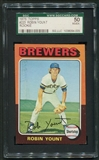 1975 Topps Baseball #223 Robin Yount Rookie SGC 50 (VG-EX) *4005