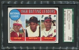 1969 Topps Baseball #2 Pete Rose Matty Alou Felipe Alou NL Batting Leaders SGC 80 (EX-NM) *3009