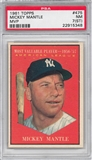 1961 Topps Baseball #475 Mickey Mantle MVP PSA 7 (ST) (NM) *5348