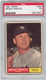 1961 Topps Baseball #300 Mickey Mantle PSA 1 (PR) *5347