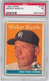 1958 Topps Baseball #150 Mickey Mantle PSA 1 (PR) *5343