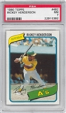 1980 Topps Baseball #482 Rickey Henderson Rookie PSA 7 (NM) *5382