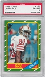 1986 Topps Football #161 Jerry Rice Rookie PSA 6 (EX-MT) *5388