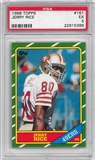 1986 Topps Football #161 Jerry Rice Rookie PSA 5 (EX) *5389