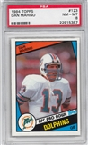 1984 Topps Football #123 Dan Marino Rookie PSA 8 (NM-MT) *5387