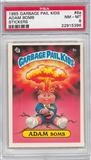 1985 Garbage Pail Kids Stickers #8a Adam Bomb PSA 8 (NM-MT) *5396