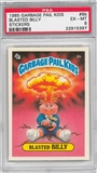 1985 Garbage Pail Kids Stickers #8b Blasted Billy PSA 6 (EX-MT) *5397
