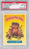 1985 Garbage Pail Kids Stickers #11b Bugged Bert PSA 10 (GEM MT) *5400