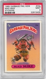1985 Garbage Pail Kids Stickers #33a Mad Mike PSA 9 (MT) *5405