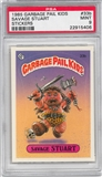 1985 Garbage Pail Kids Stickers #33b Savage Stuart PSA 9 (MT) *5406