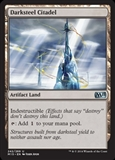 Magic the Gathering Magic 2015 Core Set Single Darksteel Citadel Foil NEAR MINT (NM)