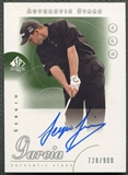 2001 SP Authentic #62 Sergio Garcia Rookie Auto #728/900