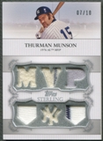 2009 Topps Sterling #SMR6 Thurman Munson Moments Relics Jersey #07/10