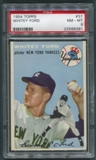 1954 Topps Baseball #37 Whitey Ford PSA 8 (NM-MT) *9381