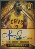 2013/14 Panini Gold Standard #29 Kyrie Irving Superscribe Auto #34/49