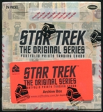 Star Trek: The Original Series Portfolio Prints Trading Cards Archive Box (Rittenhouse 2014)