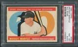 1960 Topps Baseball #563 Mickey Mantle All Star PSA 8 (OC) (NM-MT) *0815