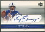 2002 Upper Deck Honor Roll #HRLPM Peyton Manning Letterman Auto
