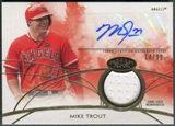 2014 Topps Tier One #TOARMT Mike Trout Jersey Auto #14/99