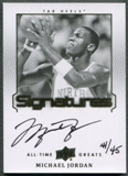 2013 Upper Deck All-Time Greats #ATGMJ11 Michael Jordan Signatures Auto #44/45