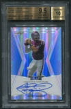 2014 Leaf Metal Draft #BAJM2 Johnny Manziel Prismatic Blue Rookie Auto #35/50 BGS 9.5 (GEM MINT) *0384