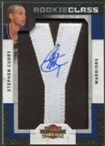 "2009/10 Panini Threads #107 Stephen Curry Rookie Letter ""Y"" Patch Auto #125/625"