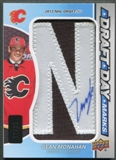"2013-14 SP Game Used #DDMSM Sean Monahan Rookie Draft Day Marks Letter ""N"" Patch Auto #11/35"