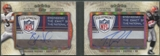 2012 Topps Five Star #FSFDALWR Trent Richardson & Brandon Weeden Dual Rookie Laundry Tag Auto 1/1