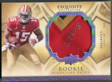 2009 Exquisite Collection #185 Michael Crabtree Rookie Silver Holofoil Patch Auto #14/25