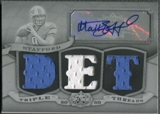 2009 Topps Triple Threads #TTRA14 Matthew Stafford Rookie Printing Plate Jersey Auto #1/1