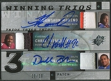 2009 SPx #RRB Knowshon Moreno Chris Wells Donald Brown Winning Trios Rookie Patch Auto #10/10