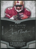 2009 Exquisite Collection #LJR Jerry Rice Legendary Signatures Auto #07/15
