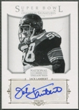 2012 Panini National Treasures #6 Jack Lambert Super Bowl Champion Signatures Auto #24/25