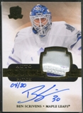 2011/12 The Cup #160 Ben Scrivens Gold Rainbow Rookie Patch Auto #04/30