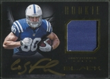 2012 Panini Black #21 Coby Fleener Rookie Signature Materials Gold Patch Auto #46/99