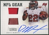 2012 Panini National Treasures #2 Doug Martin NFL Gear Combos Jersey Ball Auto #36/49