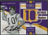 2009 Playoff National Treasures #22 Fran Tarkenton Retired Materials Signature Jersey Auto #05/10