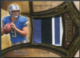 2009 Exquisite Collection #SP Brandon Pettigrew & Matthew Stafford Rookie Big Patch Match-Up #12/50