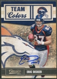 2010 Classics #21 Eric Decker Team Colors Rookie Auto #12/25